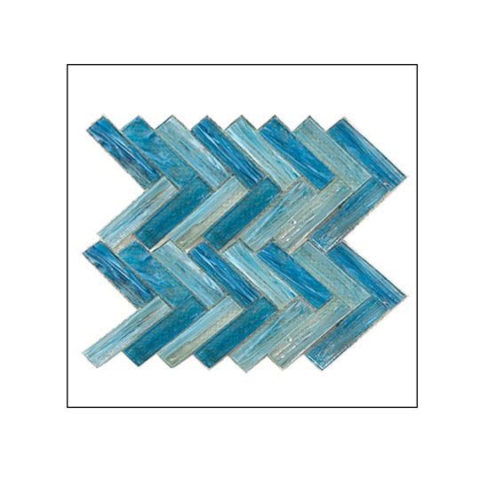 Venus Diagonal Lines Light Blue/Teal 300mm x 375mm x 6mm VM-705